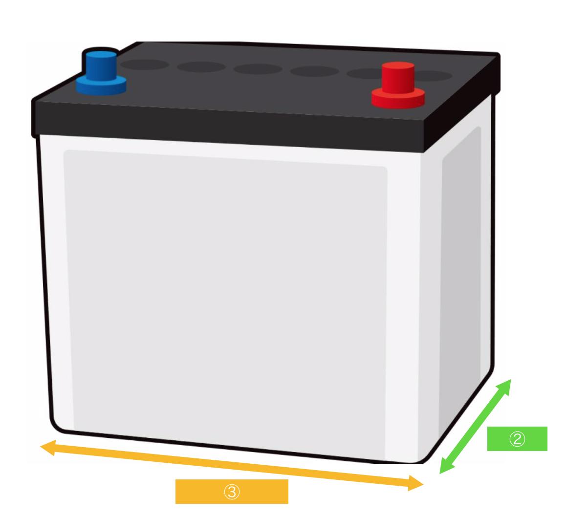 バッテリー読み方サイズ
